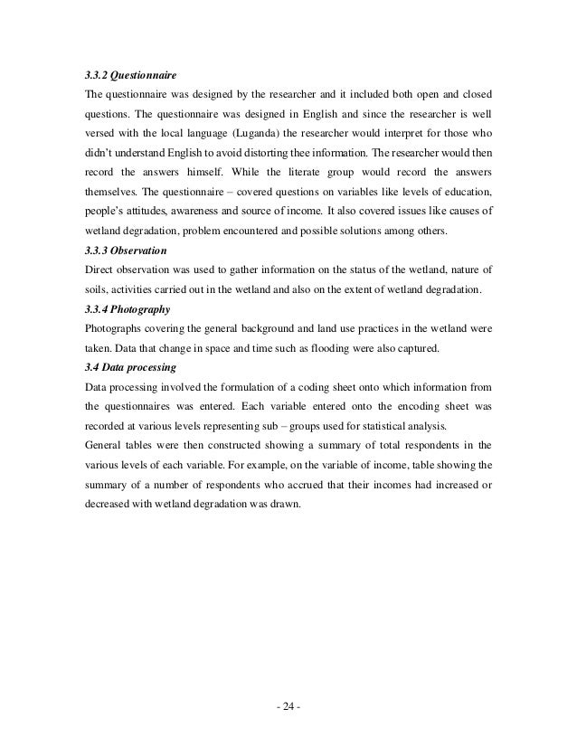 The effects of wetland degradation on the socio economic welfare of r…