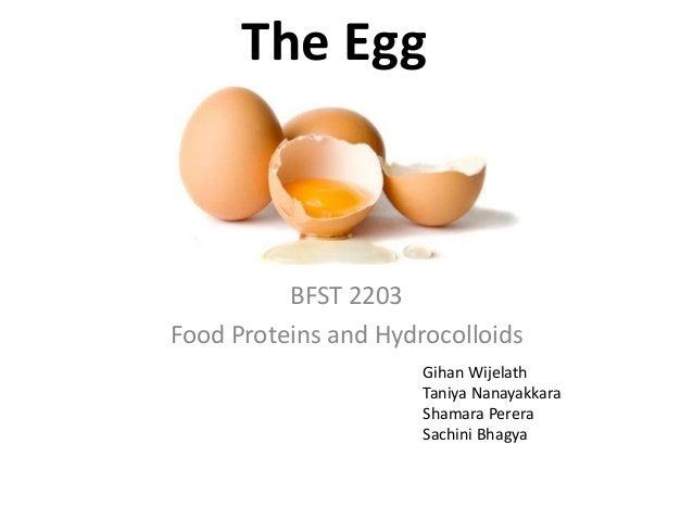 The Egg BFST 2203 Food Proteins and Hydrocolloids Gihan Wijelath Taniya Nanayakkara Shamara Perera Sachini Bhagya