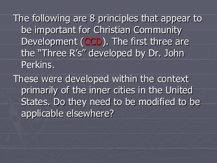 Christian Community Development 1:  Eight Components Slide 3