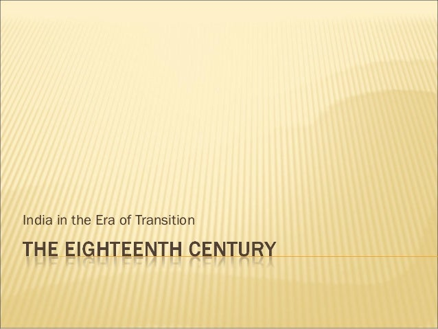 India in the Era of Transition