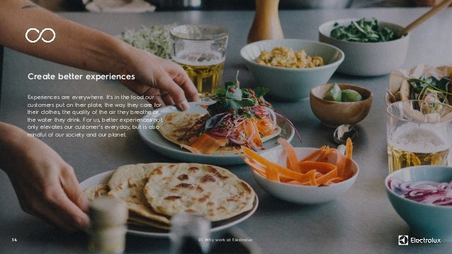 Create better experiences Experiences are everywhere. It's in the food our customers put on their plate, the way they care...