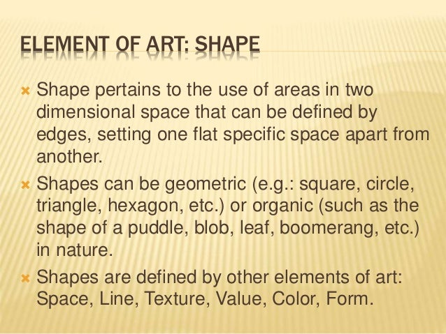The elements of art for Definition of form and space in architecture