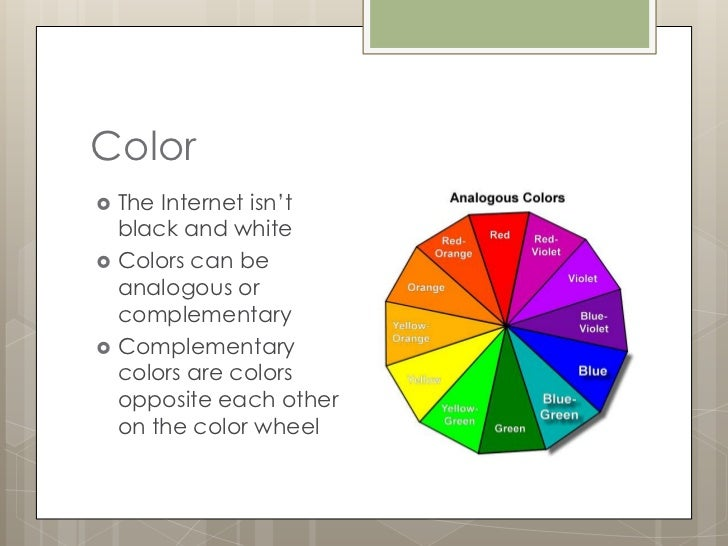 Color As An Element Of Design : The elements of design color