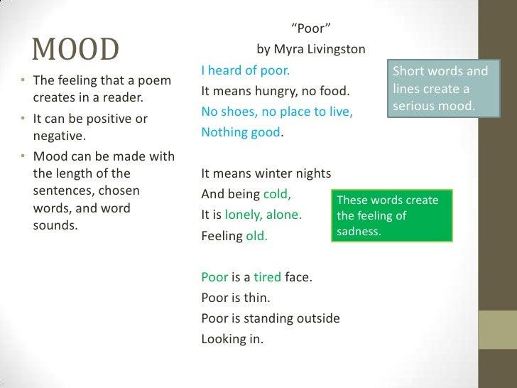 """Poor"" MOOD                                 by Myra Livingston                            I heard of poor.                ..."