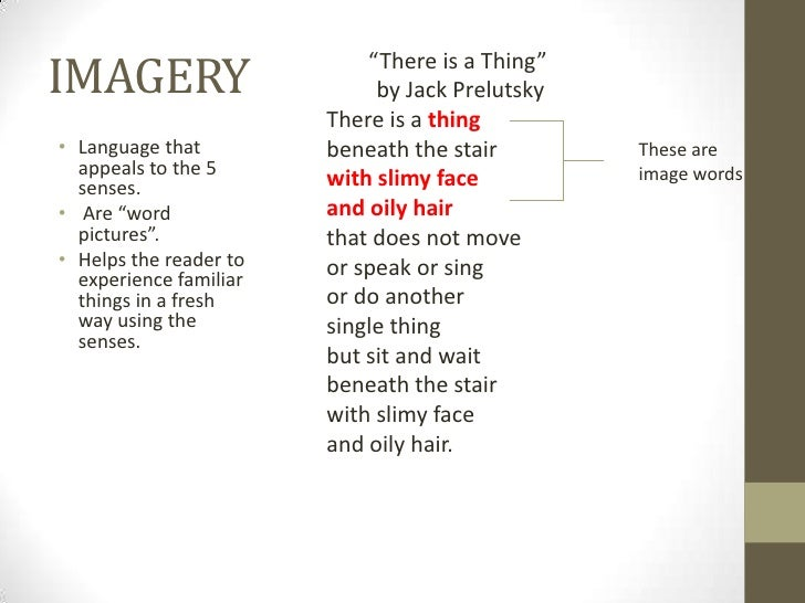 """IMAGERY                     """"There is a Thing""""                             by Jack Prelutsky                        There ..."""