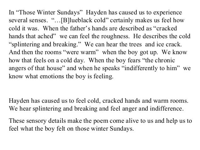 those winter sundays analysis essay