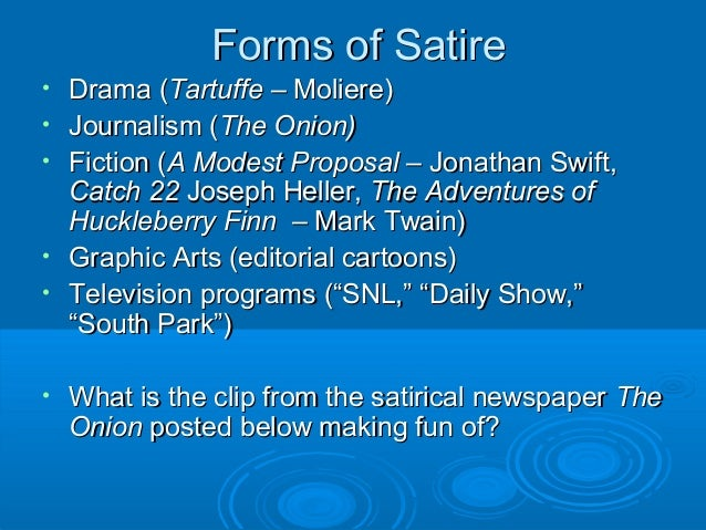 satirical elements The movie shrek introduces the satirical techniques of exaggeration, incongruity, reversal, and parody students brainstorm fairy tale characteristics, identify satirical techniques, then create their own satirical versions of fairy tales.