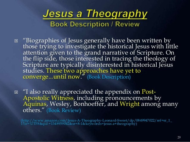 """29  """"Biographies of Jesus generally have been written by those trying to investigate the historical Jesus with little att..."""