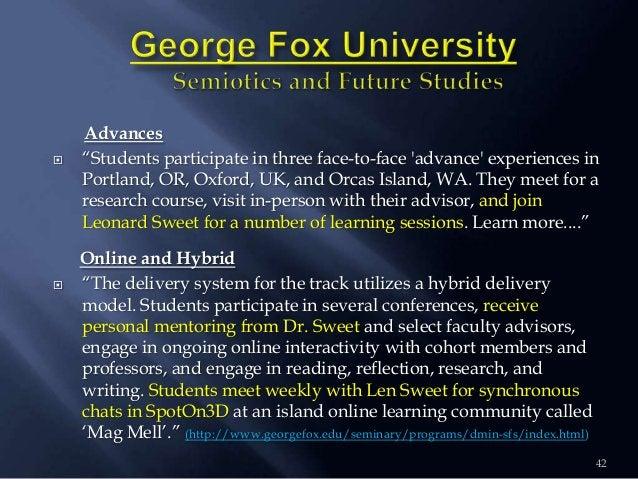 """42 Advances  """"Students participate in three face-to-face 'advance' experiences in Portland, OR, Oxford, UK, and Orcas Isl..."""