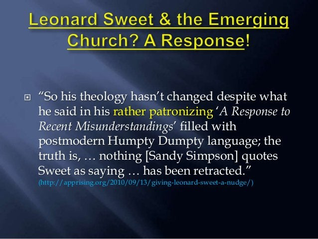 """ """"So his theology hasn""""t changed despite what he said in his rather patronizing """"A Response to Recent Misunderstandings"""" ..."""