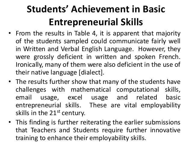 The employability skills of upper basic school leavers in