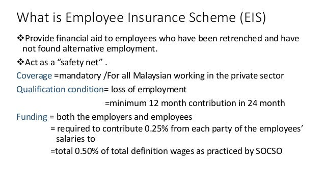 Malaysia Employee Insurance Scheme