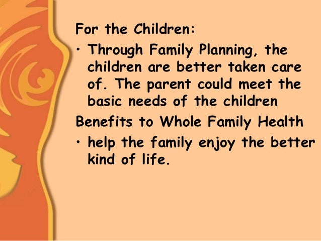 The end of family planning for Family planning com