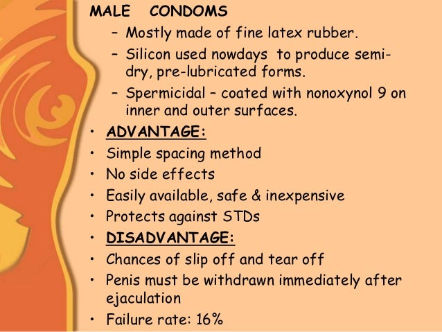 the advantages and disadvantages of using condom as a contraception