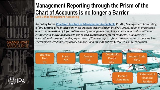 cima defines management accounting as the process of identification accounting essay The roles and responsibilities of management accountants in   the process of identification, measurement,  defined management accounting as it was defined by .