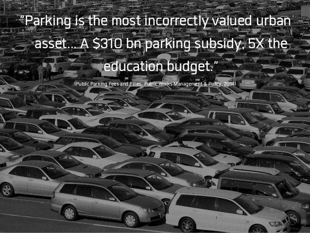 Car infrastructure is heavily subsidized