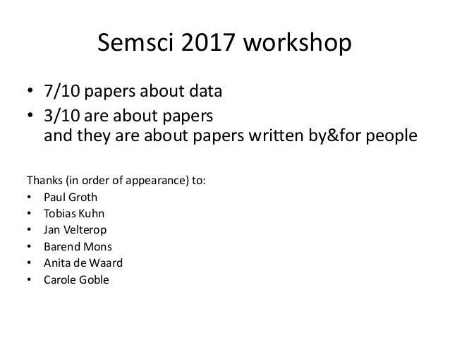 The end of the scientific paper as we know it (or not...) Slide 3