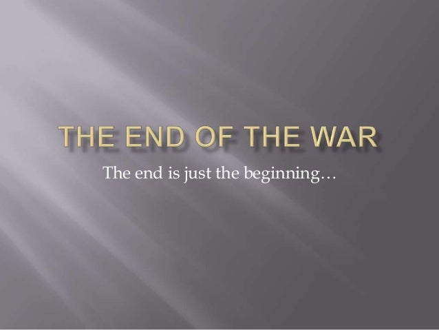 The end is just the beginning…
