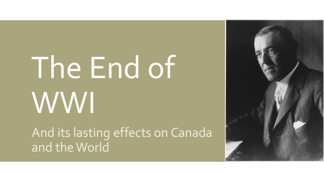 The end of the ww1