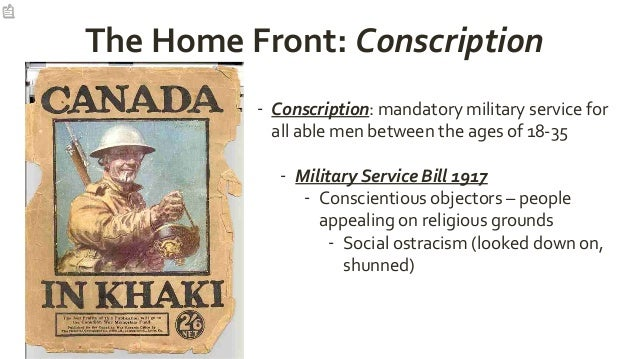 Conscription in Canada