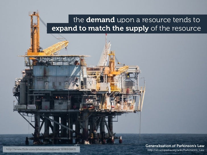 the demand upon a resource tends to                               expand to match the supply of the resource              ...