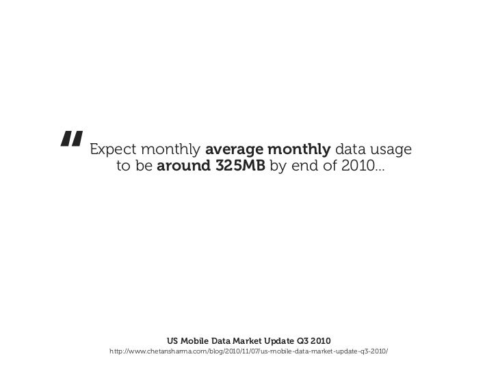 """""""   Expect monthly average monthly data usage       to be around 325MB by end of 2010...                      US Mobile Da..."""