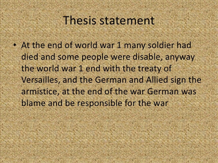 end of world war 1 questions The first world war, known as the great war and as world war one abbreviated wwi after 1939, was a world conflict lasting from august 1914 to the final armistice on november 11, 1918.