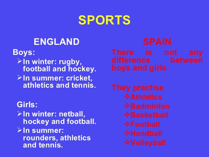 The Difference of Sports in Summer and Winter