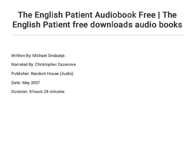 The english patient audiobook download free   fiction & literature.