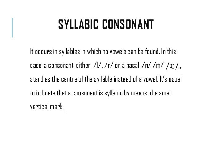 syllabic consonants in english pdf