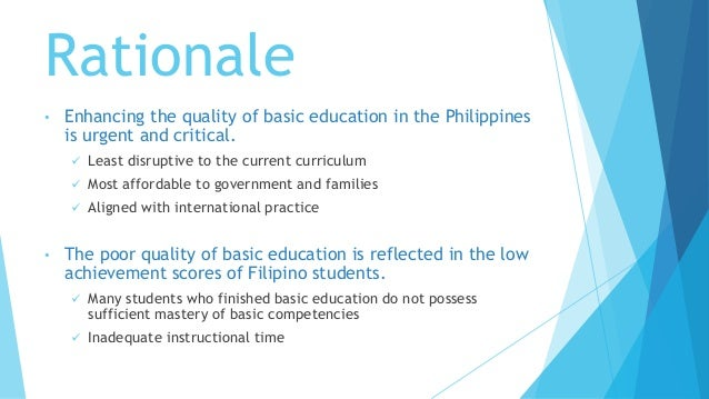enhancing the quality of education in the philippines essay Defining quality in education programmes that focus on enhancing the quality of education programmes evidence from the philippines.