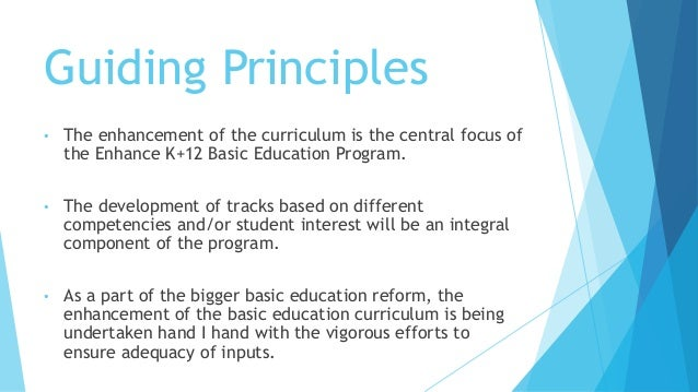 disadvantage of k 12 basic curriculum programs Pros & cons in the k+12 basic education at a disadvantage as mother tongue-based multilingual education (mtb-mle or mle) programs are piloted.