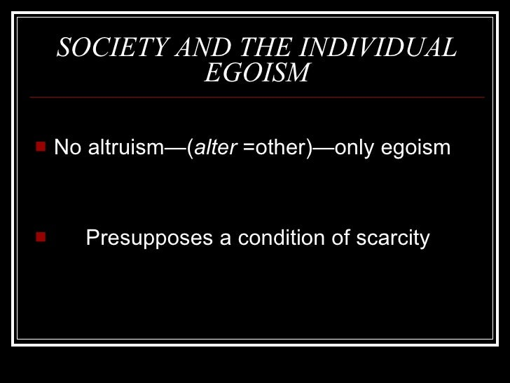 A closer understanding of hobbesian egoism