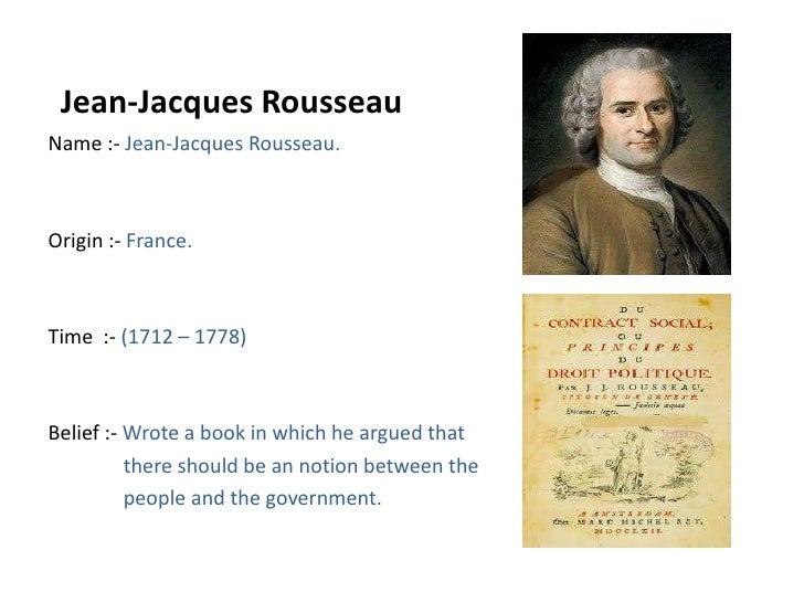 Jean Jacques Rousseau Beliefs The enlightenment