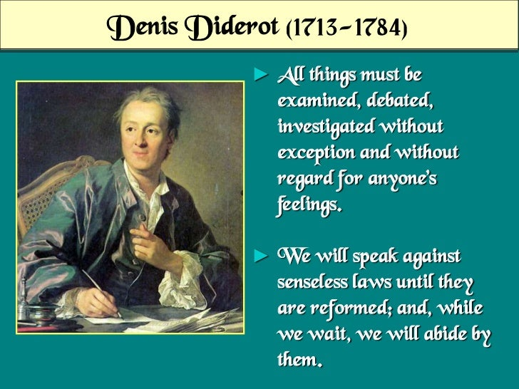 denis diderot essay About blindness and enlightenment: an essay i denis diderot, the letter on the blind for the use of those who can see (1749) note on the translation.