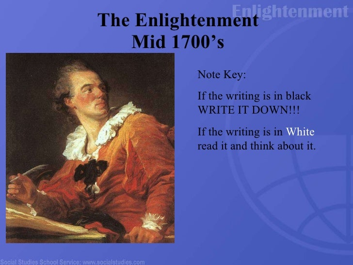 an overview of the period of enlightenment era