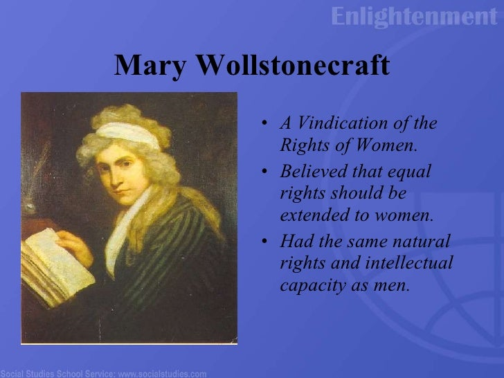 gender roles in a vindication of the rights of women by mary wollstonecraft Everything you ever wanted to know about jean-jacques rousseau in a vindication of the rights of woman,  rights of woman by mary wollstonecraft  gender, the .