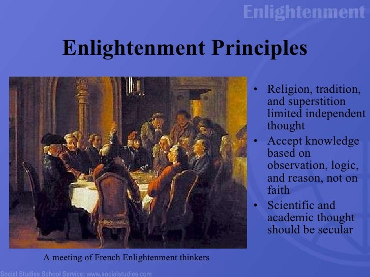 the enlightenment and religion How religion was portrayed in the enlightenment religion was often as the devil in the enlightenment various features of religion were often deemed bizarre to the enlightenment thinkers religion aspects such as.