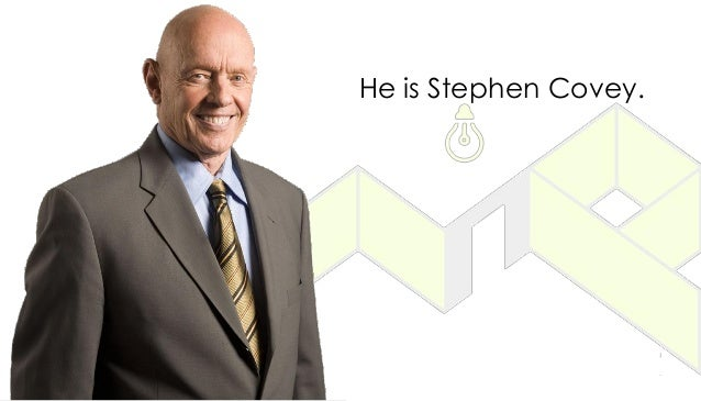 He is Stephen Covey.