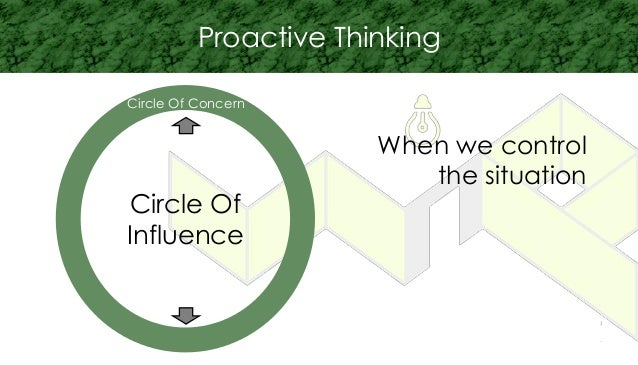 Circle Of Influence Circle Of Concern Proactive Thinking When we control the situation