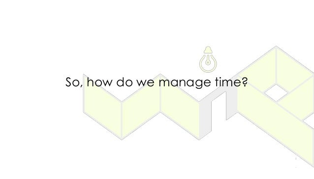 So, how do we manage time?