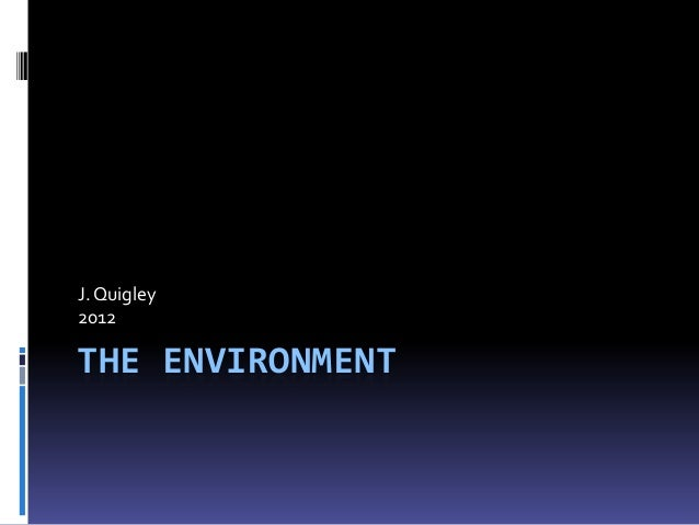 J. Quigley2012THE ENVIRONMENT