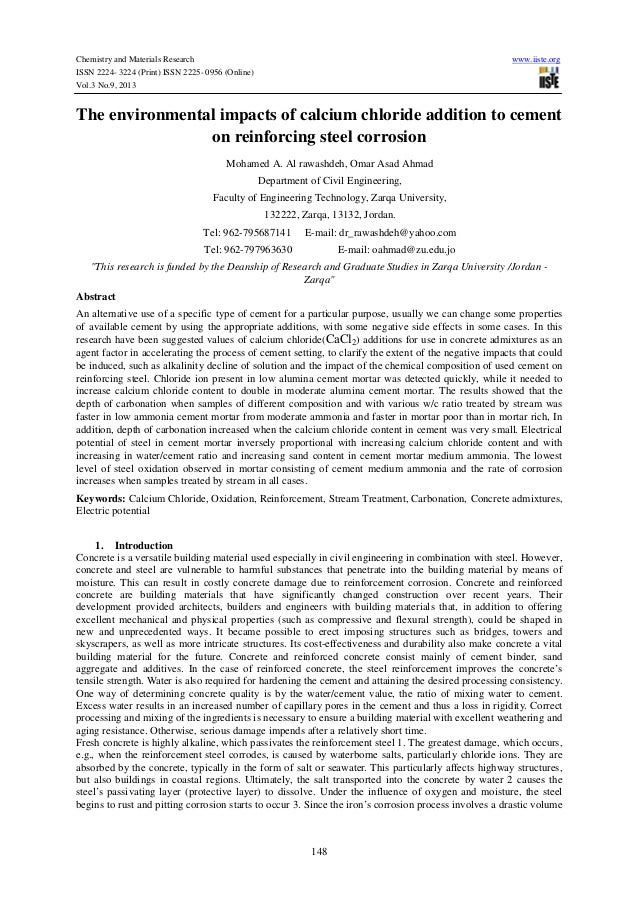 Chemistry and Materials Research www.iiste.org ISSN 2224- 3224 (Print) ISSN 2225- 0956 (Online) Vol.3 No.9, 2013 148 The e...