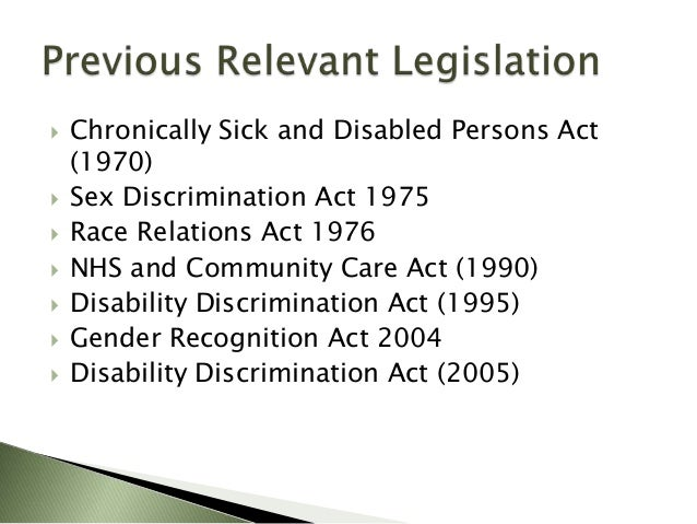 The Equality Act 2010 (disability) regulations power point