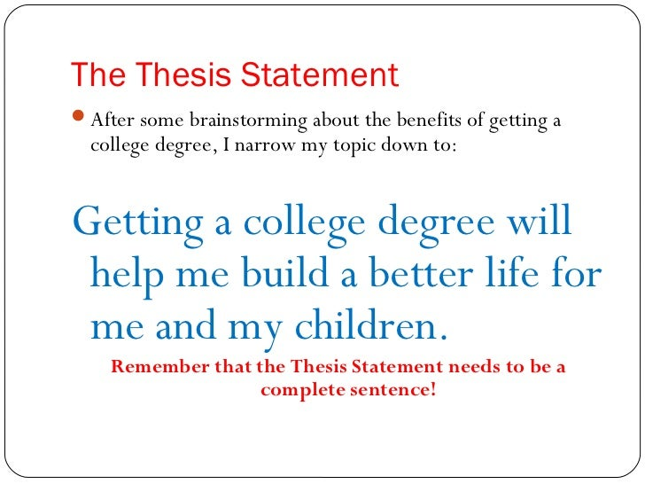 Writing A Thesis Statement for a Research Paper: Basics & Hints
