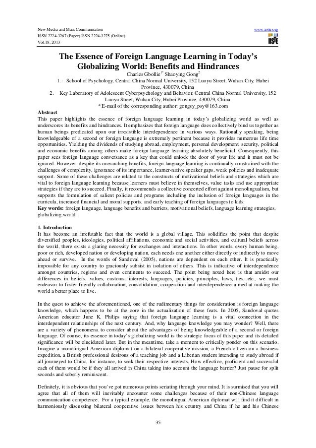 New Media and Mass Communication ISSN 2224-3267 (Paper) ISSN 2224-3275 (Online) Vol.18, 2013  www.iiste.org  The Essence o...