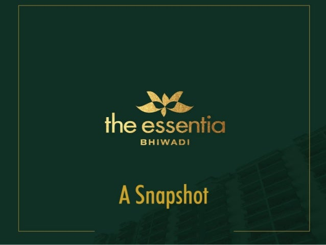 We are pleased to introduce you to our integrated group-housing, The Essentia, Bhiwadi We strive to provide the good life,...