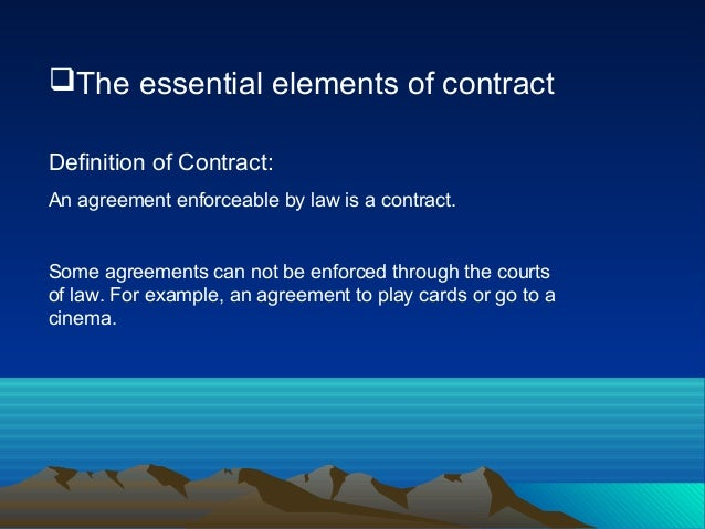 The Essential Elements Of Contracts(Badhon)