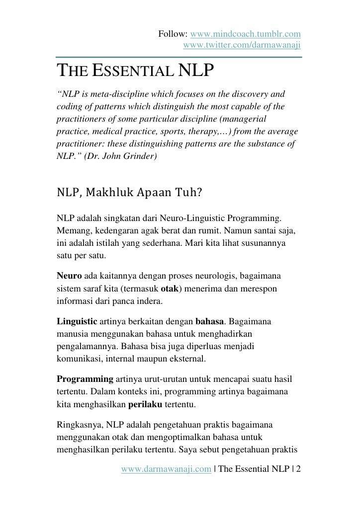 The Essential NLP (ebook) Slide 2