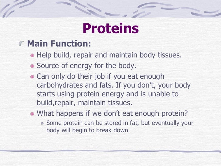 6 Proteinsmain Function